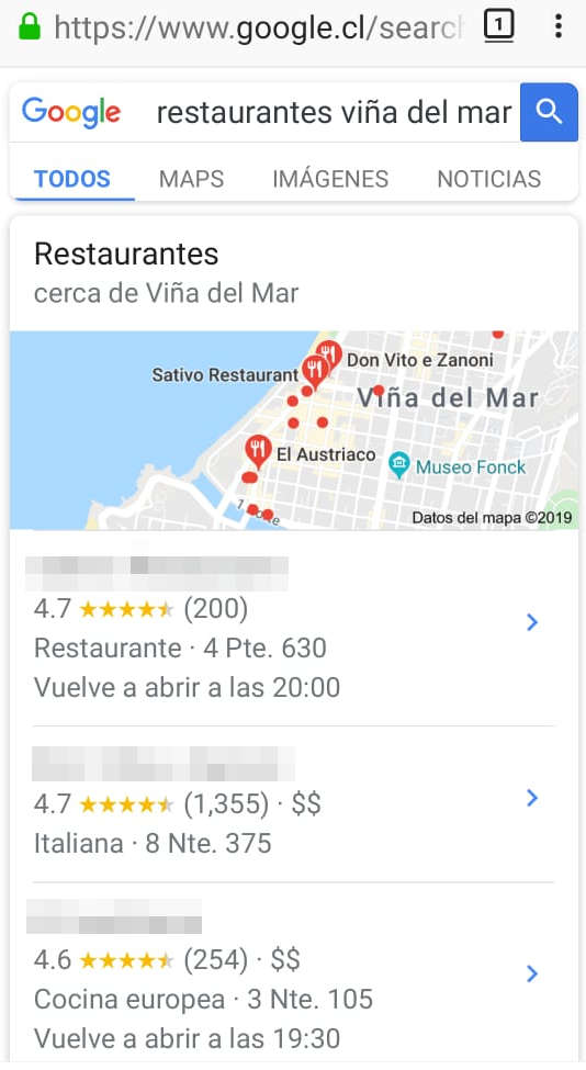 busquedas en google local